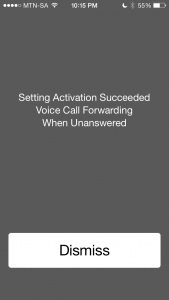 Setting Activation Succeeded